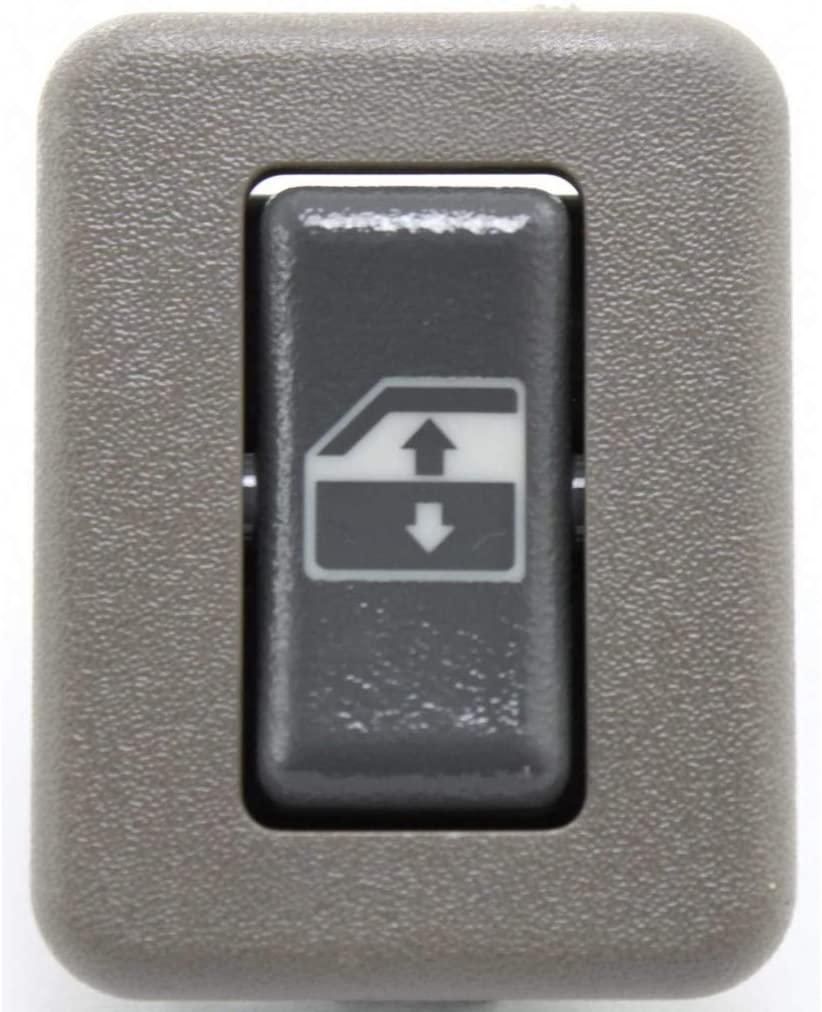 For Chevy C1500 / C2500 Suburban Window Switch 1995 96 97 98 1999 R=L Single Piece   Rear   Gray