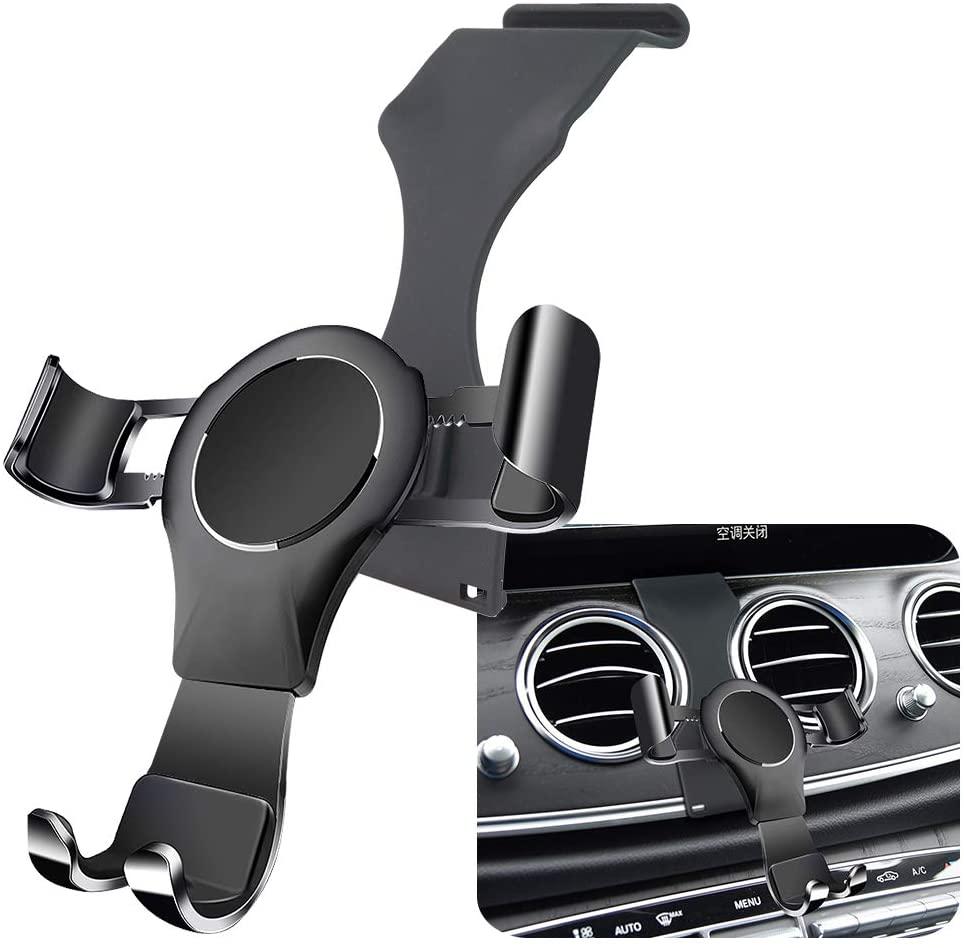 LUNQIN Car Phone Holder for 2016-2020 Mercedes Benz E Class E300 E200 E260 E220d CLS Class 2018-2020 CLS350 CLS450 Auto Accessories Navigation Bracket Interior Decoration Mobile Cell Phone Mount