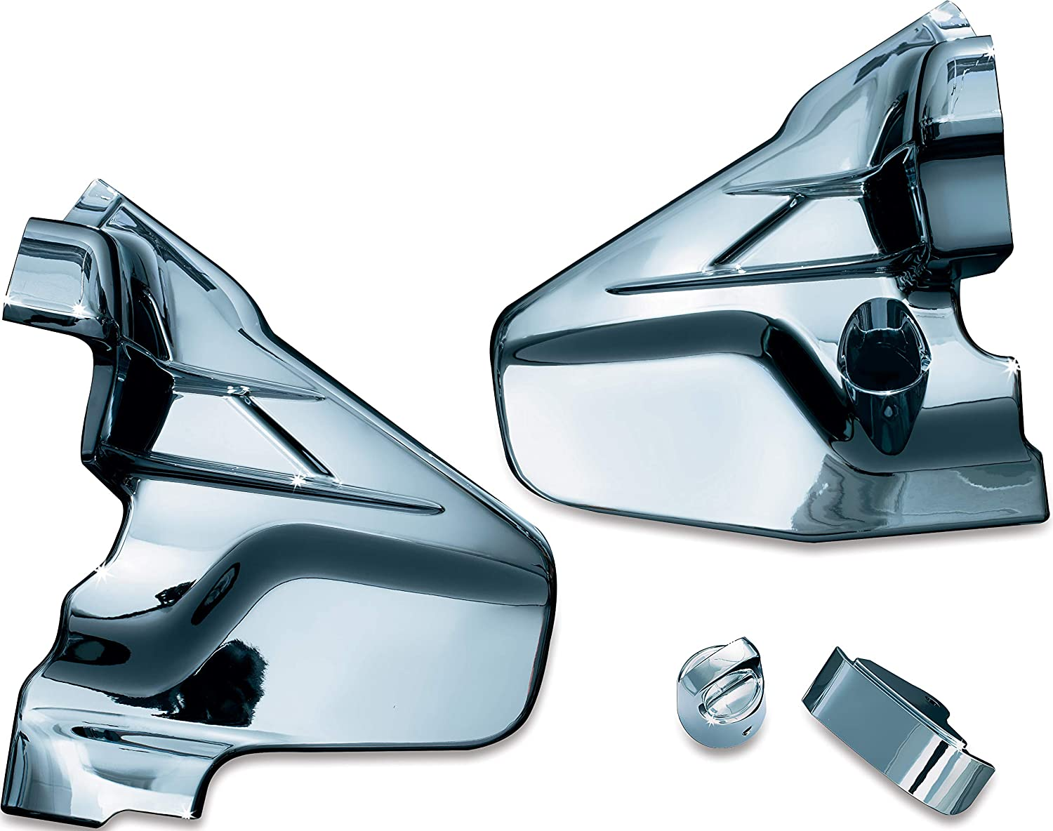 Kuryakyn 7366 Motorcycle Accent Accessory: Louvered Transmission Cover for 2001-17 Honda Gold Wing GL1800 & F6B Motorcycles, Chrome, 1 Pair
