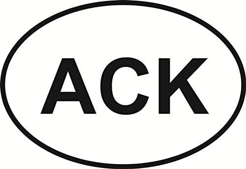Nantucket (ACK) Euro Oval Bumper Sticker