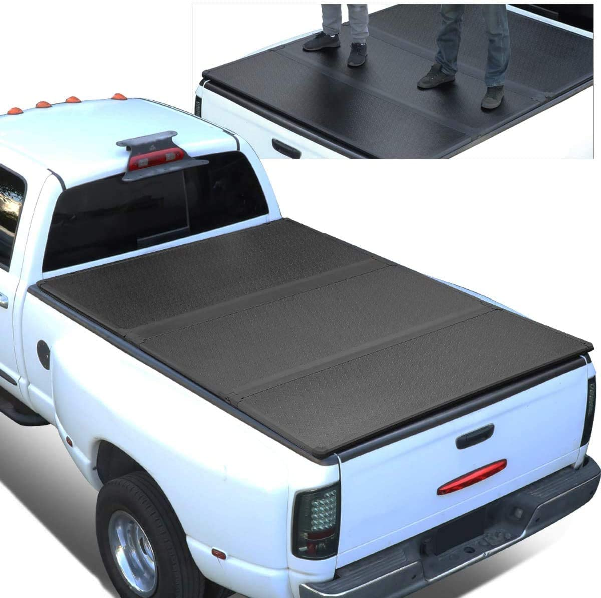 Replacement for 07-18 Tundra 5.5Ft Short Bed FRP Hard Solid Tri-Fold Tonneau Cover
