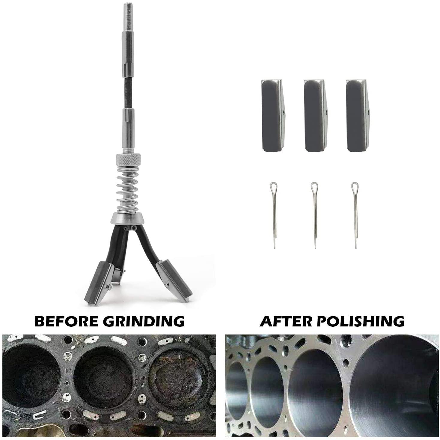 Engine Cylinder Hone Adjustable Deglaze Set for Grinding Holes from 3/4