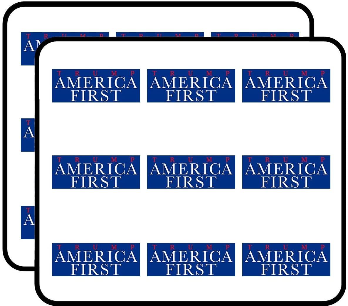 Trump America First (pro American Patriotic USA us) Sticker for Scrapbooking, Calendars, Arts, Album, Bullet Journals 2