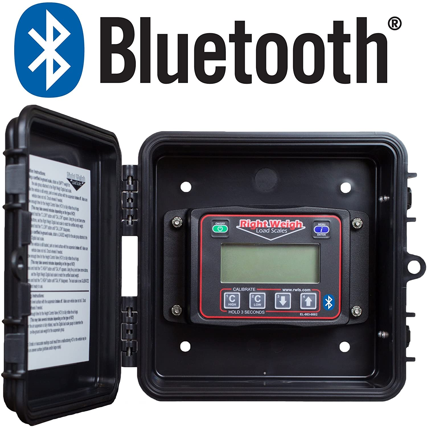 Bluetooth-Enabled Right Weigh 201-EBT-02B Exterior Digital Axle Load Scale - For Two Height Control Valve Air Suspensions or Dedicated Tractor/Trailer Sets
