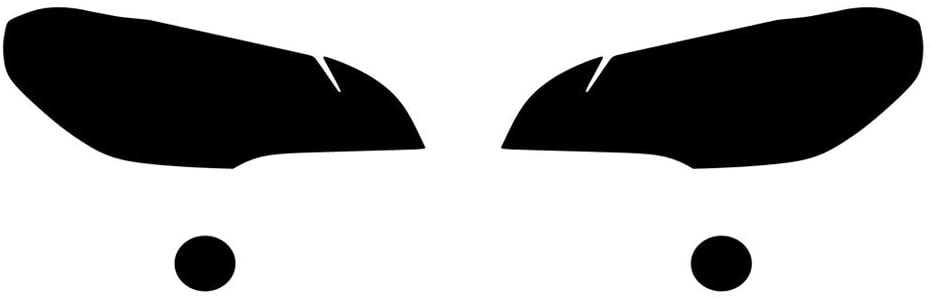 Rvinyl Rtint Headlight Tint Covers for BMW X5 2007-2010 - Blackout Smoke