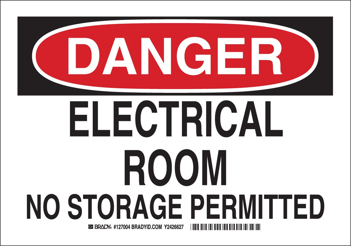 Brady 127004 Electrical Hazard Sign, Legend
