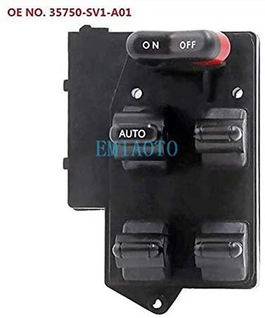 EMIAOTO Power Main Glass Switch Window Master Control Switch OEM# 35750-SV1-A01 for Honda Accord 94-97