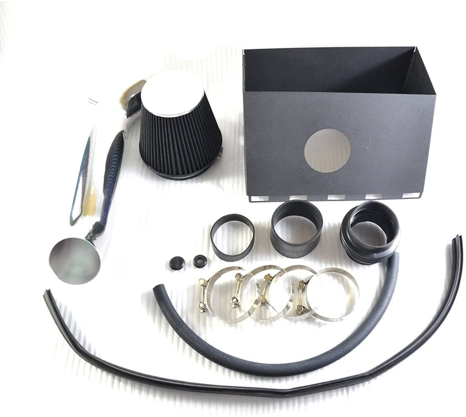 MILLION PARTS Cold Air Intake Pipe Filters System with Heat Shield 4.7L 5.7L V8 Black