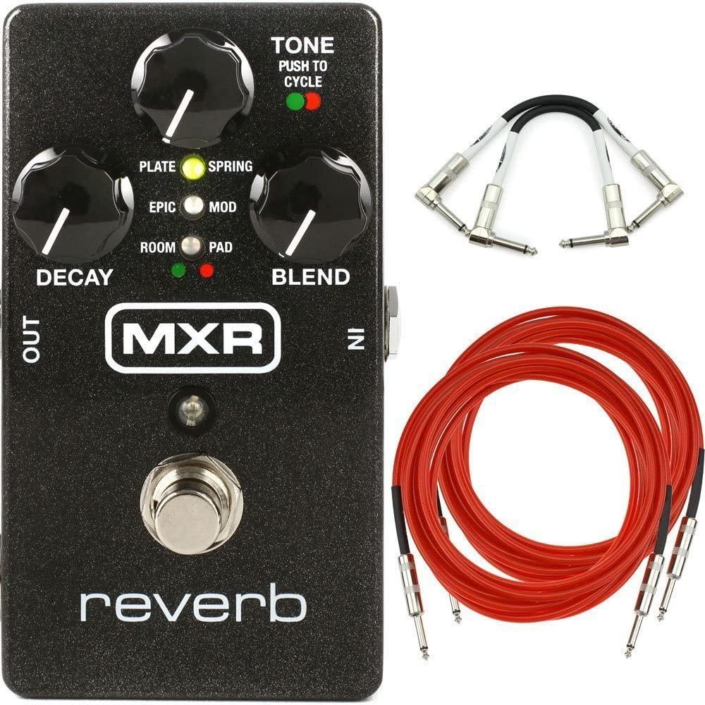 MXR M300 Reverb Analog Guitar Effect Pedal + Cables
