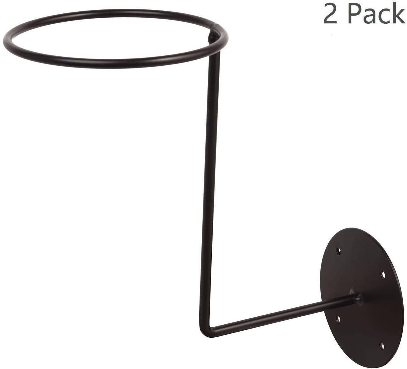 Motorcycle Accessories Helmet Holder Jacket Coats Hats Hanger Wall Mounted Multifunctional Rack Black 2 Pack