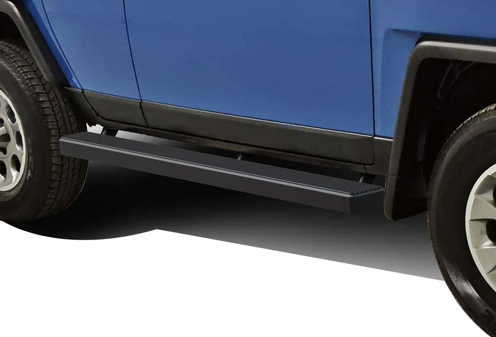 APS iBoard Running Boards (Nerf Bars Side Steps Step Bars) Compatible with 2007-2014 FJ Cruiser Sport Utility 4-Door (Black Powder Coated 5 inches)