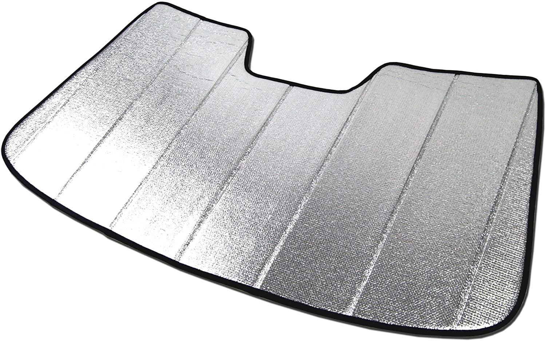 Tuningpros SS-008 Custom Fit Car Windshield Sun Shade Protector, Sunshade Visor Silver & Grey 1-pc Set Compatible With 2013-2020 Audi A3