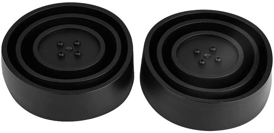 Headlight Dust Covers, 2Pcs Universal Sealed Rubber Car LED Headlight Dust Cover Housing Seal Cap 100mm Black Type-C