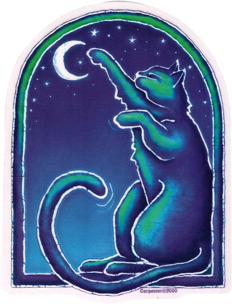 Dye the Sky Moon Cat - Window Sticker/Decal (4.5