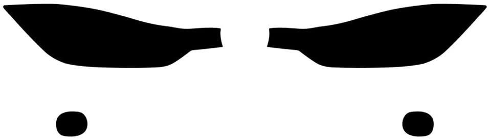 Rvinyl Rtint Headlight Tint Covers for BMW 3-Series 2012-2018 (Sedan/Wagon) - Blackout Smoke