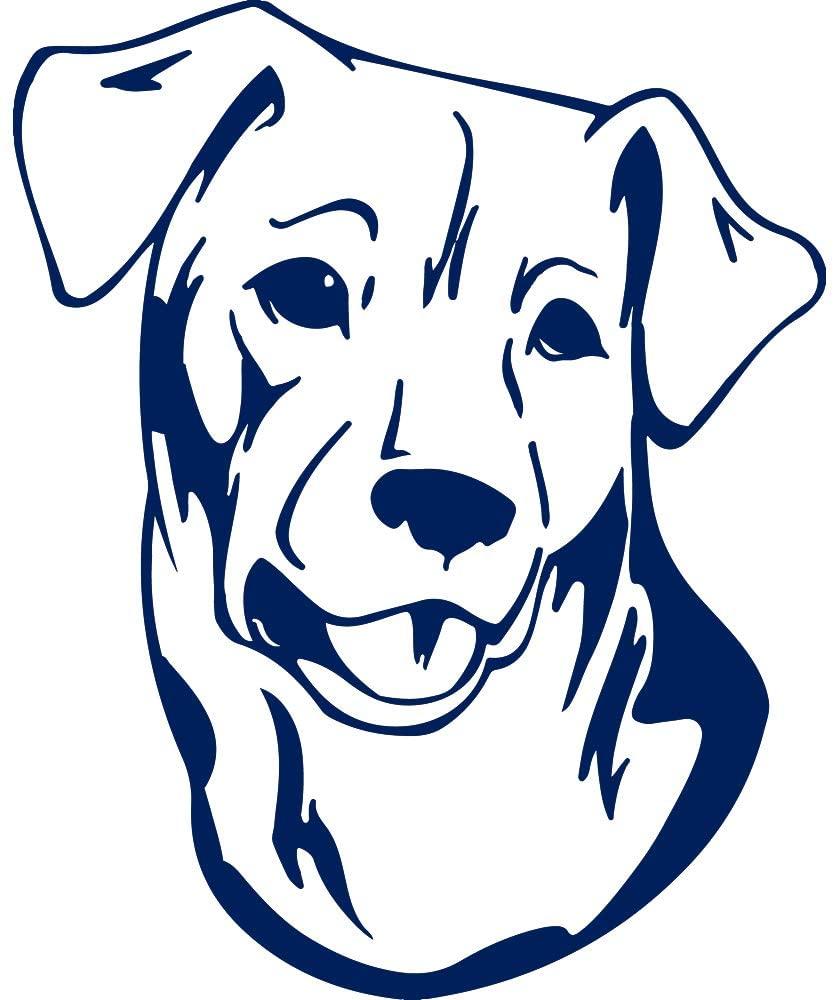 USC DECALS Chilean Fox Terrier Dog Sticker (Navy Blue) (Set of 2) Premium Waterproof Vinyl Decal Stickers for Laptop Phone Accessory Helmet Car Window Bumper Mug Tuber Cup Door Wall Decoration