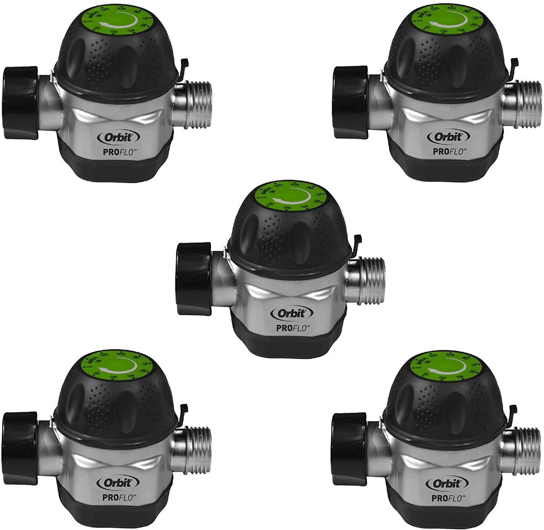 Orbit High Flow Metal Mechanical Garden Faucet Watering Hose Timer (5 Pack)