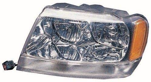 Go-Parts - for 1999 - 2004 Jeep Grand Cherokee Headlight Assembly (Grand Cherokee Limited/Overland) - Left (Driver) 55155553AI CH2502120 Replacement 2000 2001 2002 2003