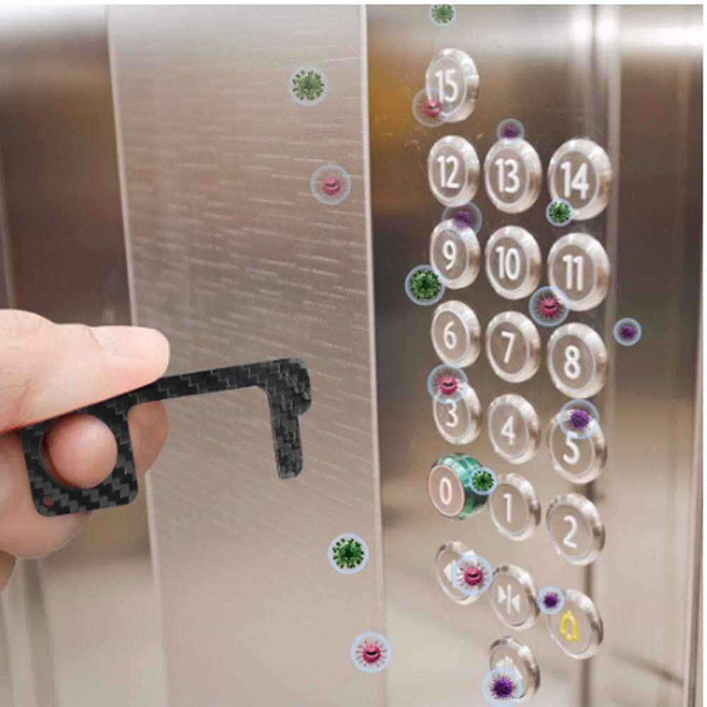 2/3/4pcs No Touch Open Door No Touch Key Tool Elevator Opening Artifact Assistant Elevator Handle Multifunctional Anti-Contact (3)