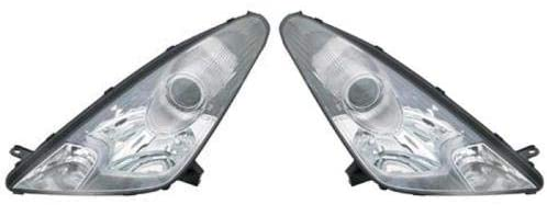Go-Parts - PAIR/SET - for 2000 - 2005 Toyota Celica Front Headlights Assembly Front Housing / Lens / Cover - Left & Right (Driver & Passenger) TO2502147 TO2503147 81170-2B750 81130-2B790 Replacement