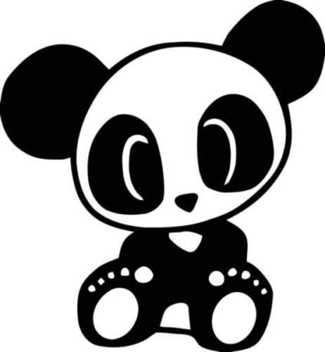 Cute Panda Bear Japanese JDM Vinyl Graphic Car Truck Windows Decor Decal Sticker - Die cut vinyl decal for windows, cars, trucks, tool boxes, laptops, MacBook - virtually any hard, smooth surface