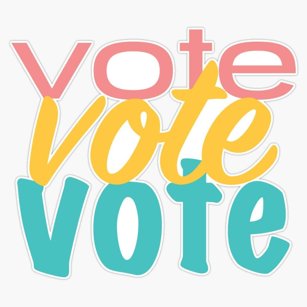Vote Vote Vote 2 Sticker Vinyl Bumper Sticker Decal Waterproof 5