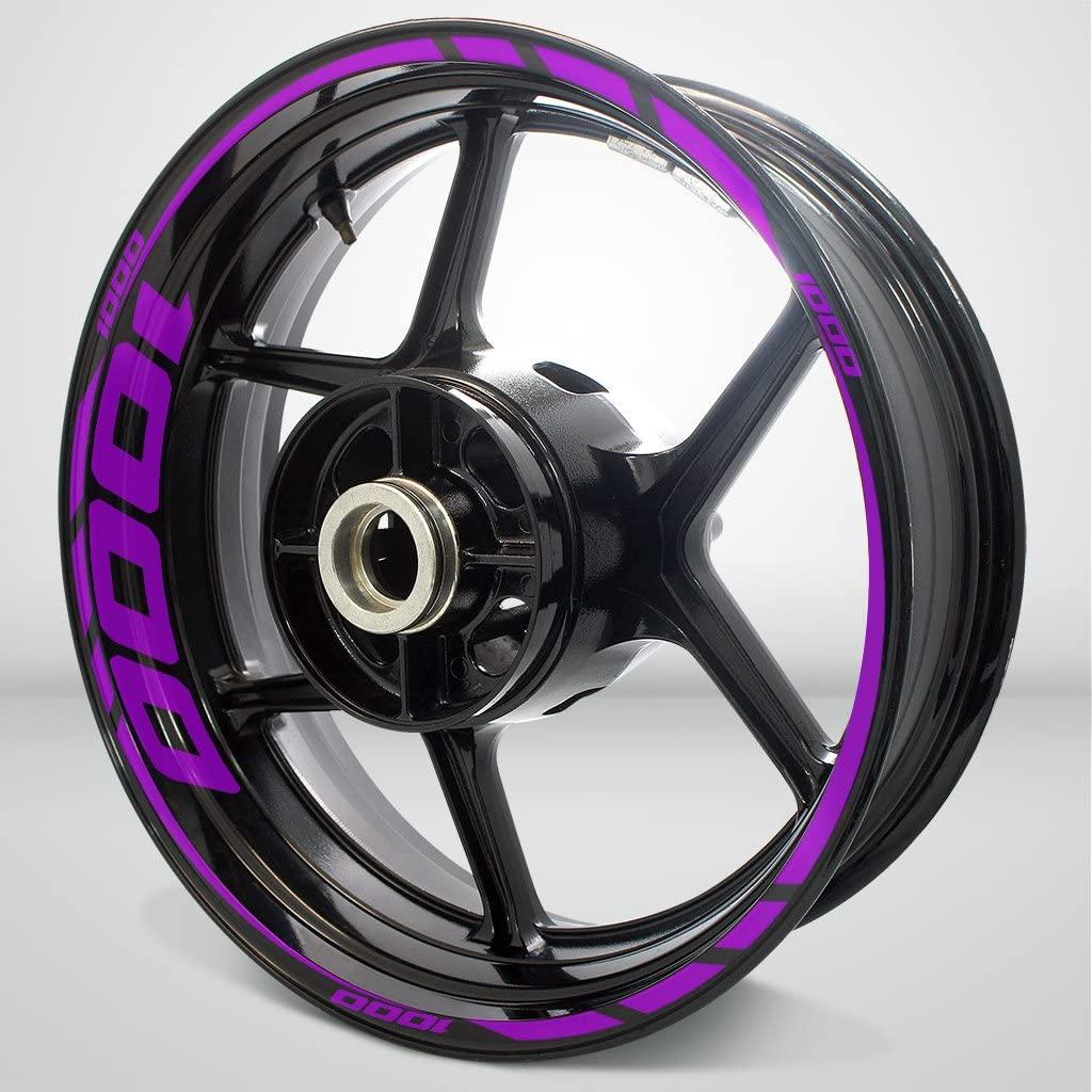 Matte Purple Motorcycle Rim Wheel Decal Accessory Sticker for Suzuki 1000
