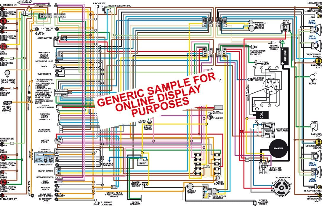 Full Color Laminated Wiring Diagram FITS 1963 Ford Fairlane Color Wiring Diagram 18