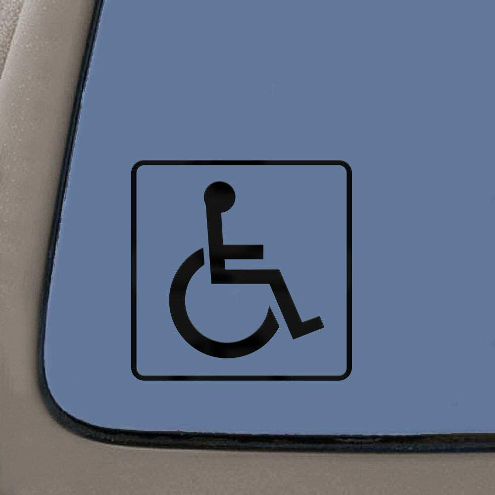 JB Print Handicap Sign Vinyl Decal Sticker Car Waterproof Car Decal Bumper Sticker 5