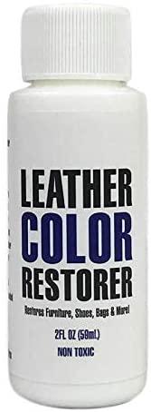 Leather Hero Leather Color Restorer Refinish, Repair, Renew Leather & Vinyl Sofa, Purse, Shoes, Auto Car Seats, Couch 2oz (Light Blue)