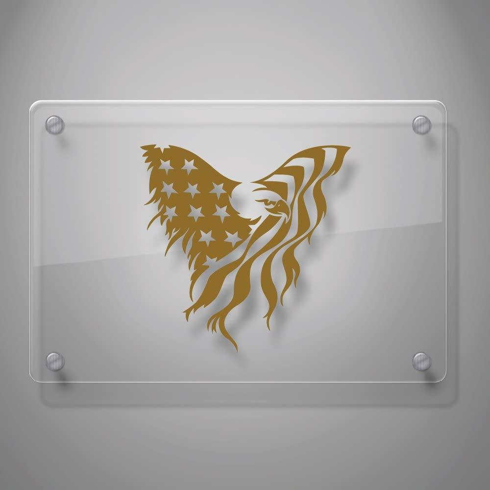Yoonek Graphics American Flag Eagle Vinyl Decal Sticker # 895 (6