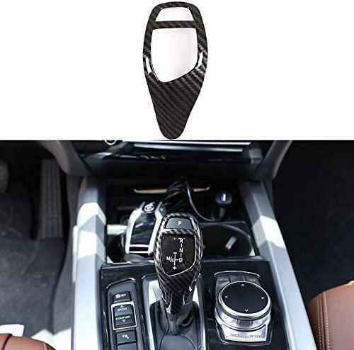 Car Gear Shift Head Cover Trim Carbon Fiber Sticker ABS For BMW F20 F30 F31 F34 X5 F15 X6 F16 X3 F25 X4 F26 F10 Accessories