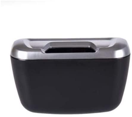 Car Trash Garbage Automotive Waste Interior Storage Bin Basket Vehicle Mini Can White 18 13 7