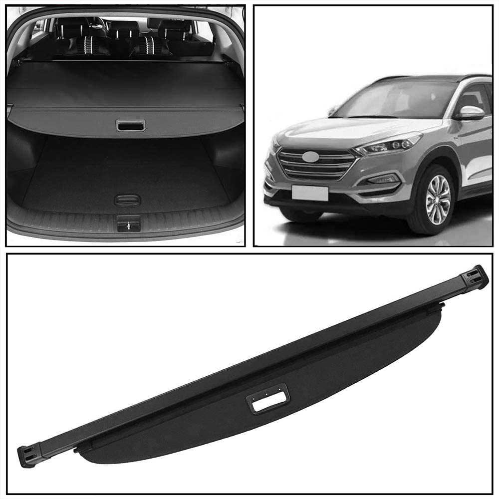 Cargo Cover Rear Trunk Luggage Security Shade Replacement for 2016 2017 2018 Hyundai Tucson