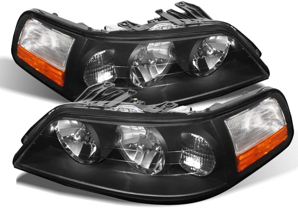 ACANII - For Blk 2005-2011 Lincoln Town Car Headlights Headlamps Replacement 05-11 Driver + Passenger Side