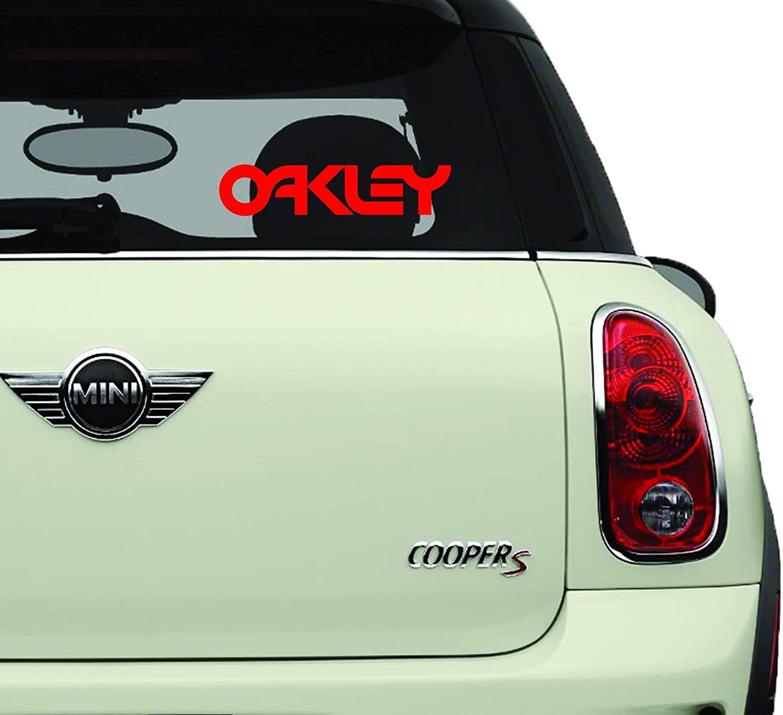 Oakley Word Red SK8/Surf/Snow/Water/Bike/Brands Automotive Decal/Bumper Sticker