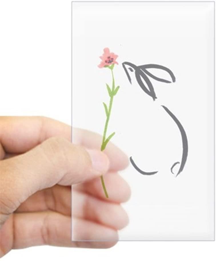 CafePress Single Pink Flower Rectangle Sticker Rectangle Bumper Sticker Car Decal
