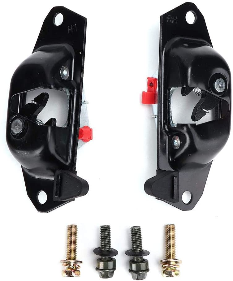 Qiilu Tailgate Latch, Rear Left Right Tailgate Liftgate Latch Lever Strikers Bolts for Silverado
