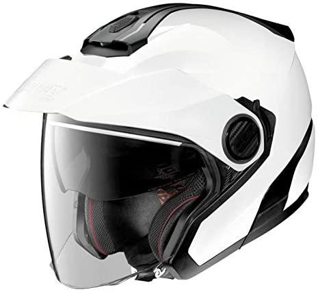 Nolan N40-5 Motorcycle Helmet Metallic White Small