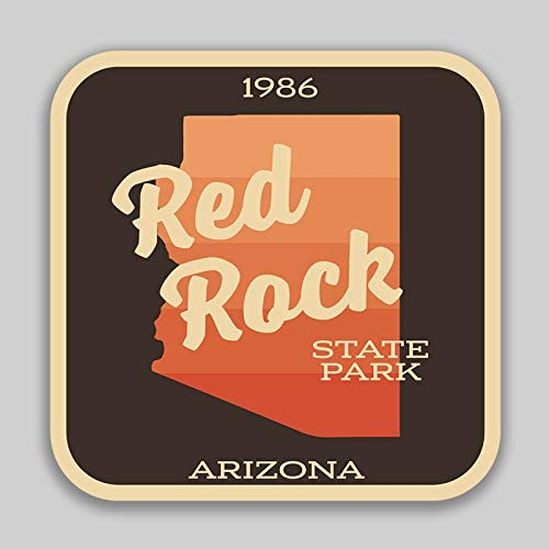 JMM Industries Red Rock State Park Arizona Vinyl Decal Sticker Car Window Bumper 2-Pack 4-Inches by 4-Inches Premium Quality UV Protective Laminate SPS591