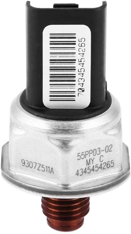 KIMISS Car Fuel Pressure Sensor, Fuel Common Rail High Pressure Sensor for 9307Z511A
