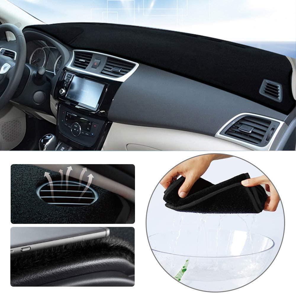 Dashboard Cover for Audi Q3 2015-2018 Original Car Custom Dash Mat Anti Reflective Heat Resistant Dash Carpet Polyester Black