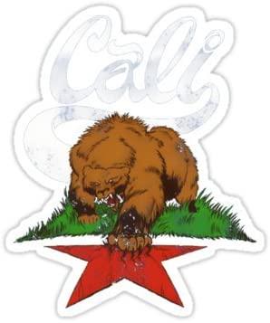 California Bear Symbol - Sticker Graphic Bumper Window Sicker Decal - State Love Sticker