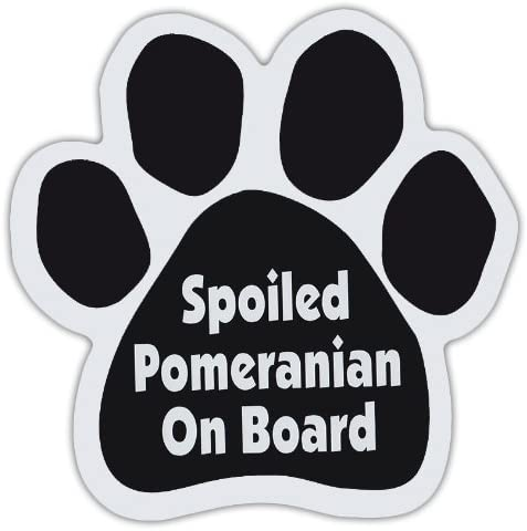 Dog Paw Shaped Magnets: SPOILED POMERANIAN ON BOARD | Dogs, Gifts, Cars, Trucks