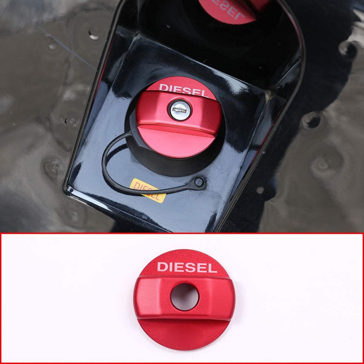 Aluminum alloy Fuel Tank Cap Trim Sticker For Land Rover Defender 90 110 (red)