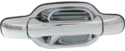 Door Handle for 2004 Chevy Colorado Base Front Right Side Exterior Plastic Chrome