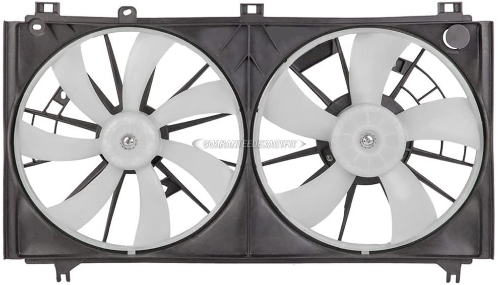 Condenser Or Radiator Cooling Fan Assembly For Lexus IS350 2006 2007 2008 - BuyAutoParts 19-20359AN New