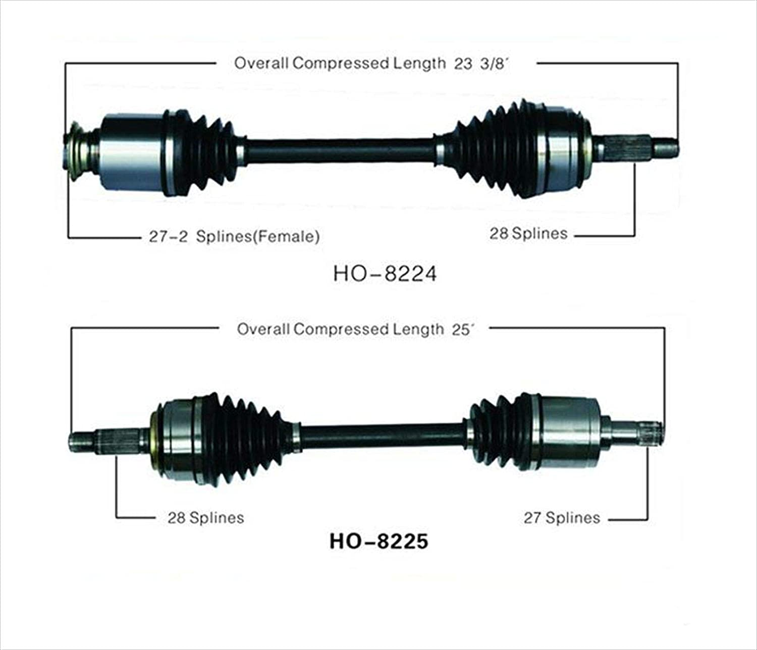 Left & Right for Honda Civic Si 2.0L 6 Speed Manual 06-11