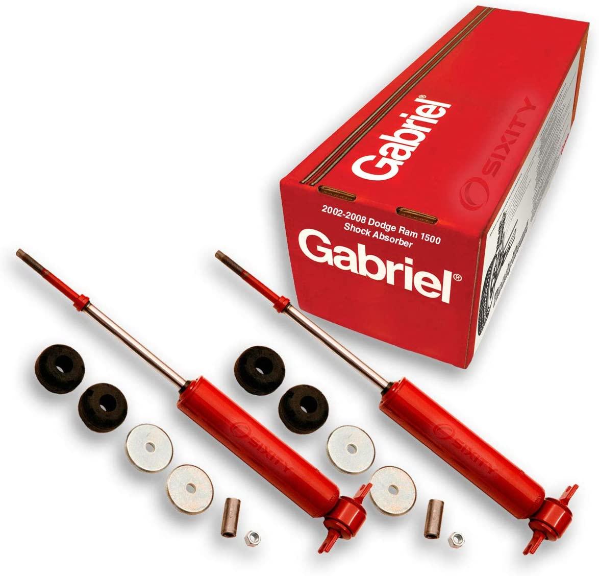 2 pc Gabriel Front Gas Charged Shock Absorber for 2002-2008 Dodge Ram 1500 5.7L 4.7L V8 3.7L V6 8.3L V10 - Guardian Nitrogen Shocks Suspension Car Shot