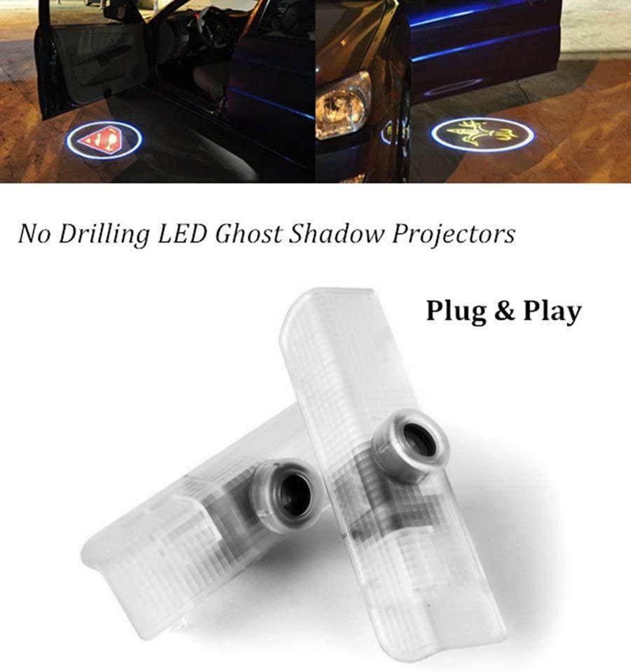 Femitu Ghost Shadow Lights Easy Installation Car Door LED Logo Projector for Nissan Altima Armada Maxima Titan Quest 2-PC Set
